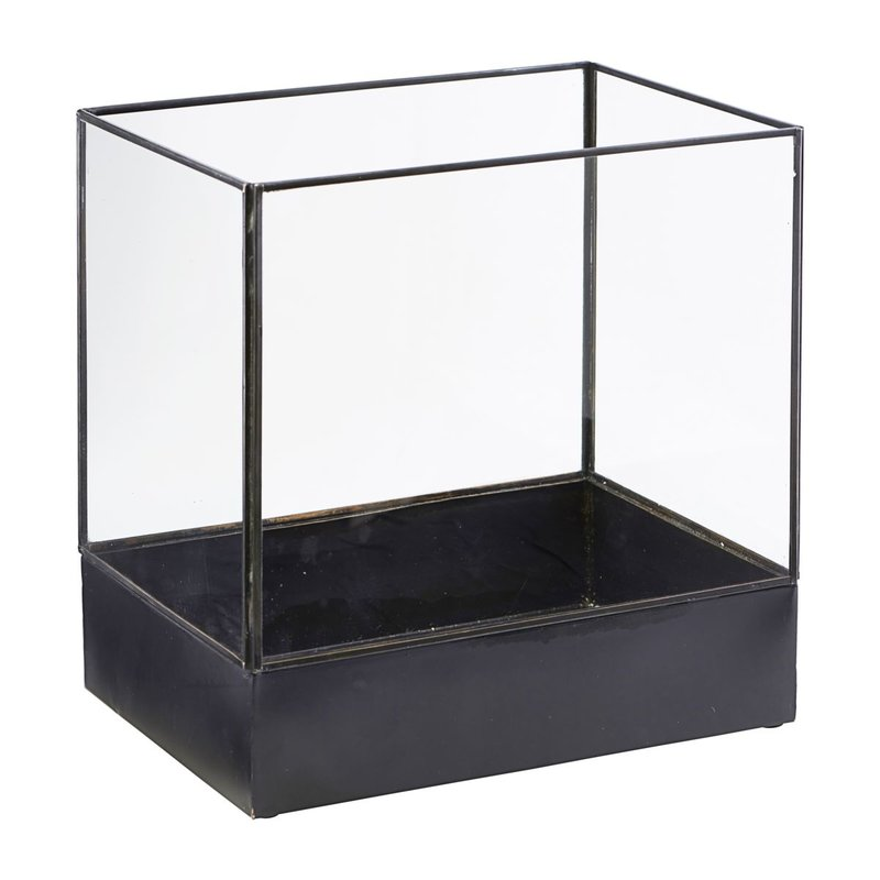 House Doctor-collectie Display box, Plant, Black antique