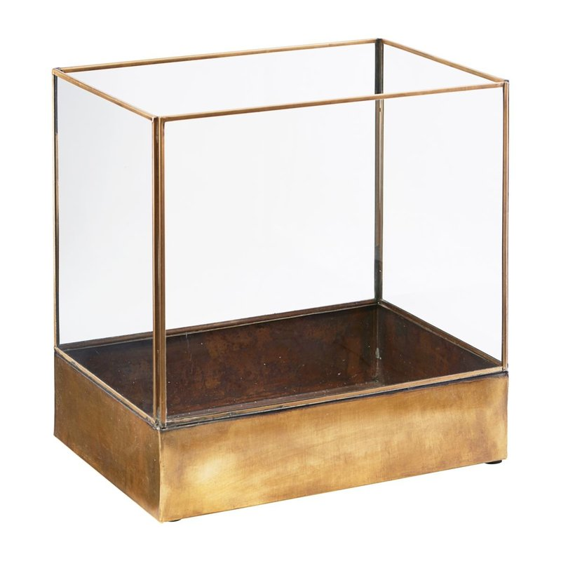 House Doctor-collectie Display box, Plant, Antique brass