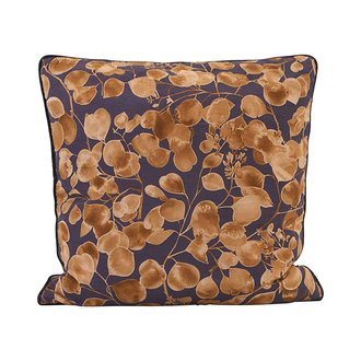 House Doctor Pillowcase, Leaf, Purple/Gold