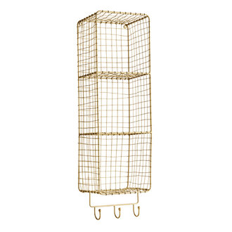 Madam Stoltz Hanging shelf w/ hooks