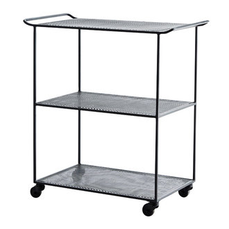 Madam Stoltz Rectangular iron trolley