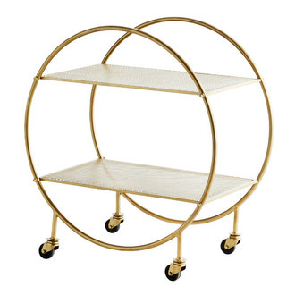 Madam Stoltz Round iron trolley