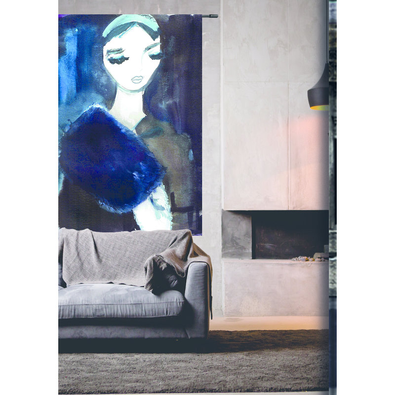 Urban Cotton Amsterdam-collectie Wandkleed Lady in Blue