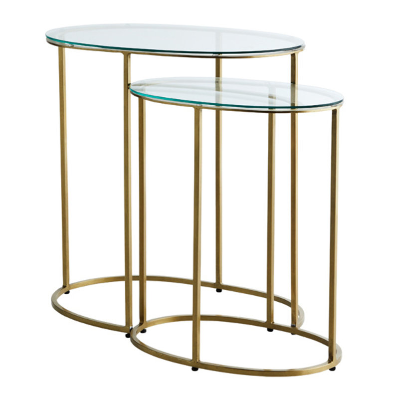 Madam Stoltz-collectie Oval side tables