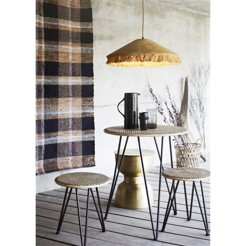 Madam Stoltz-collectie Checked leather rug
