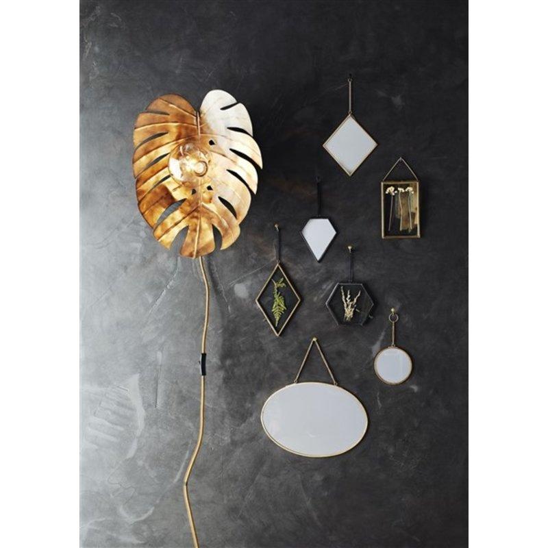 Madam Stoltz-collectie Wandlamp BLAD geoxideerd metaal