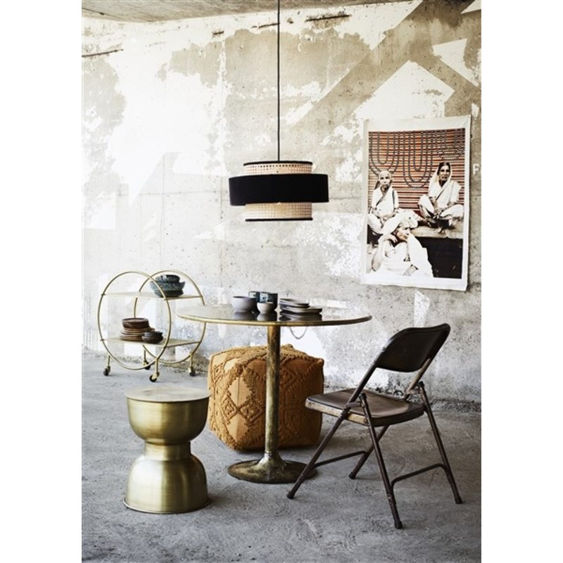Madam Stoltz-collectie Velvet ceiling lamp w/ cane