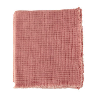 Madam Stoltz Ribbed cotton throw