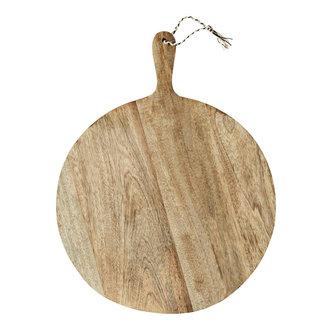 Madam Stoltz Rond houten serveerplateau