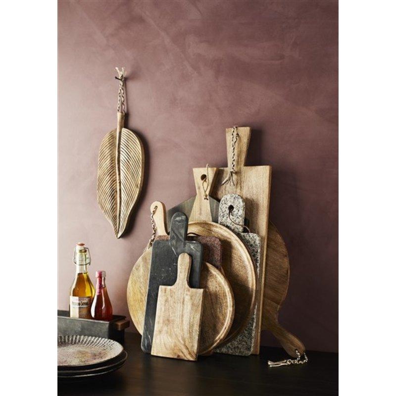 Madam Stoltz-collectie Rond houten serveerplateau