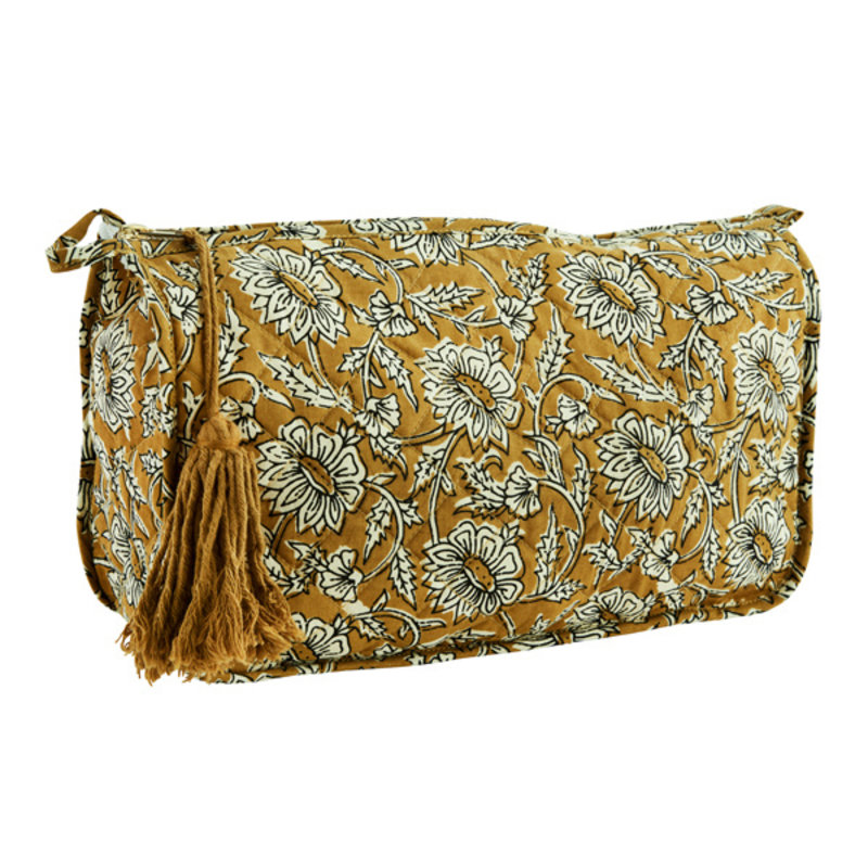 Madam Stoltz-collectie Printed toilet bag w/ tassel