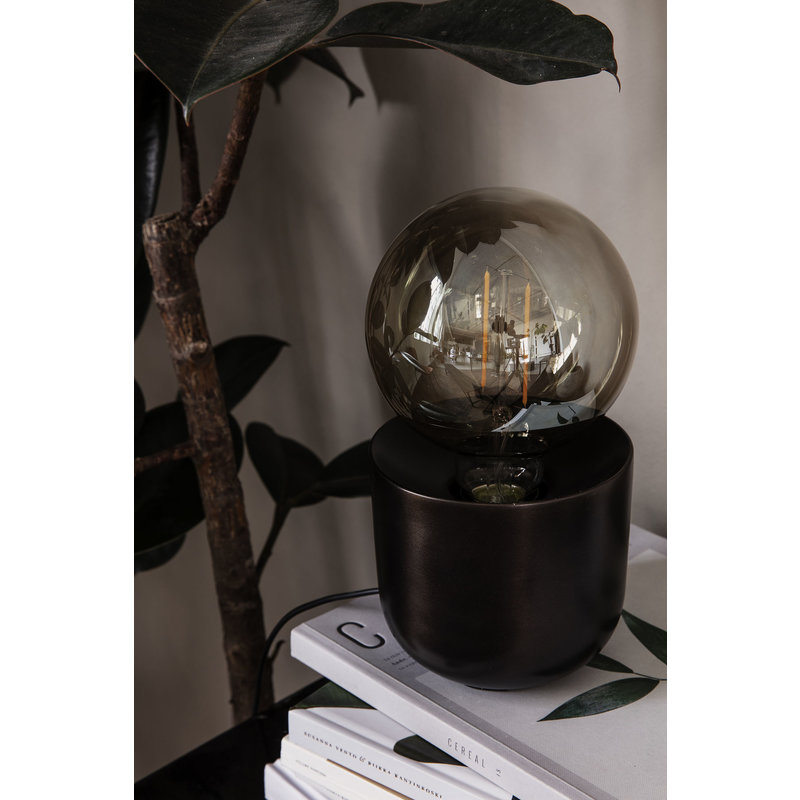 House Doctor-collectie Table lamp, Gleam, Antique brown, E27, Max 40 W, 2 m cable