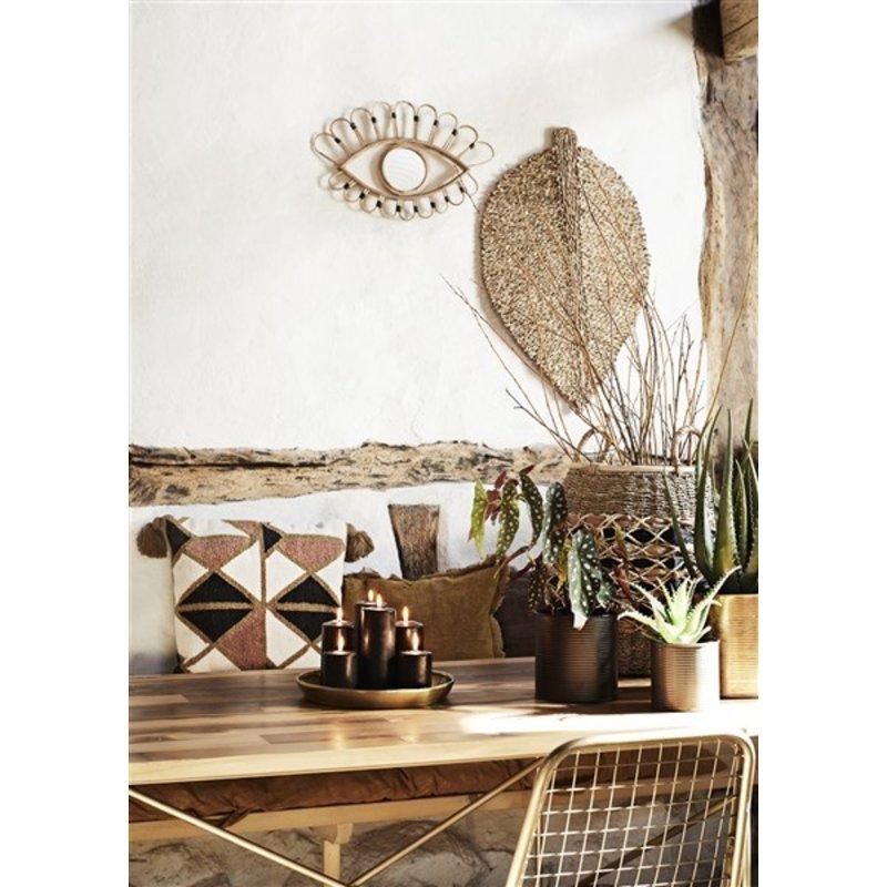Madam Stoltz-collectie Mirror w/ bamboo frame