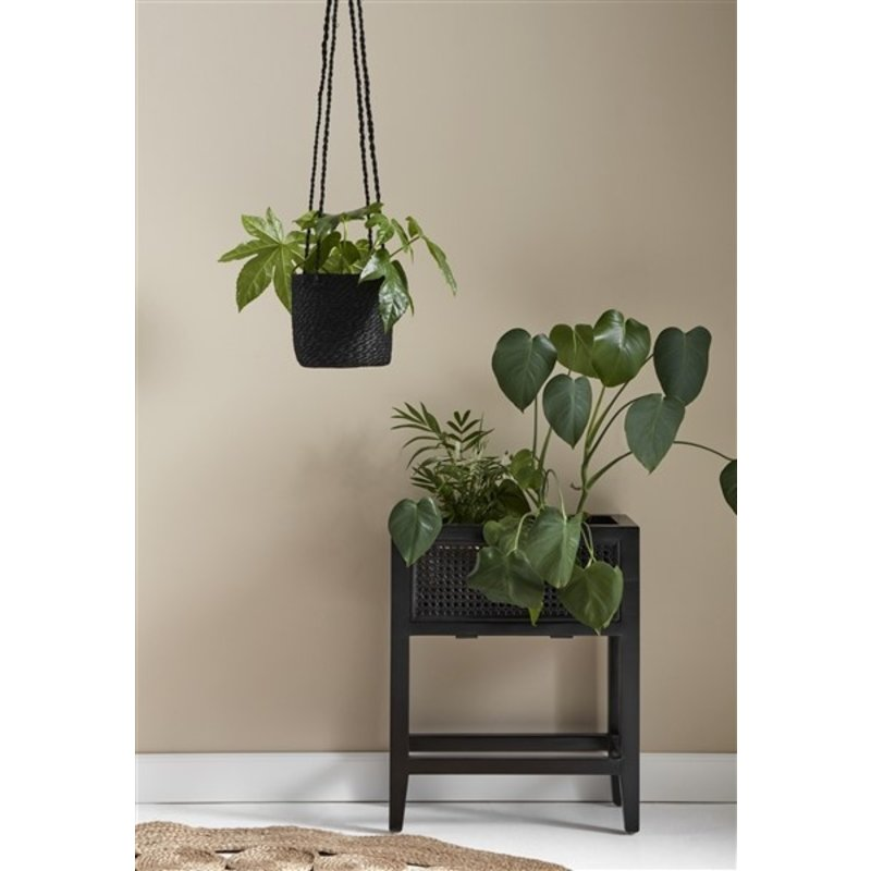 Nordal-collectie Hanging pot black jute