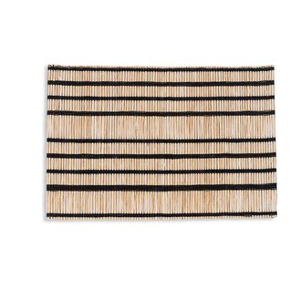 Urban Nature Culture Placemat STRIPED zwarte streep