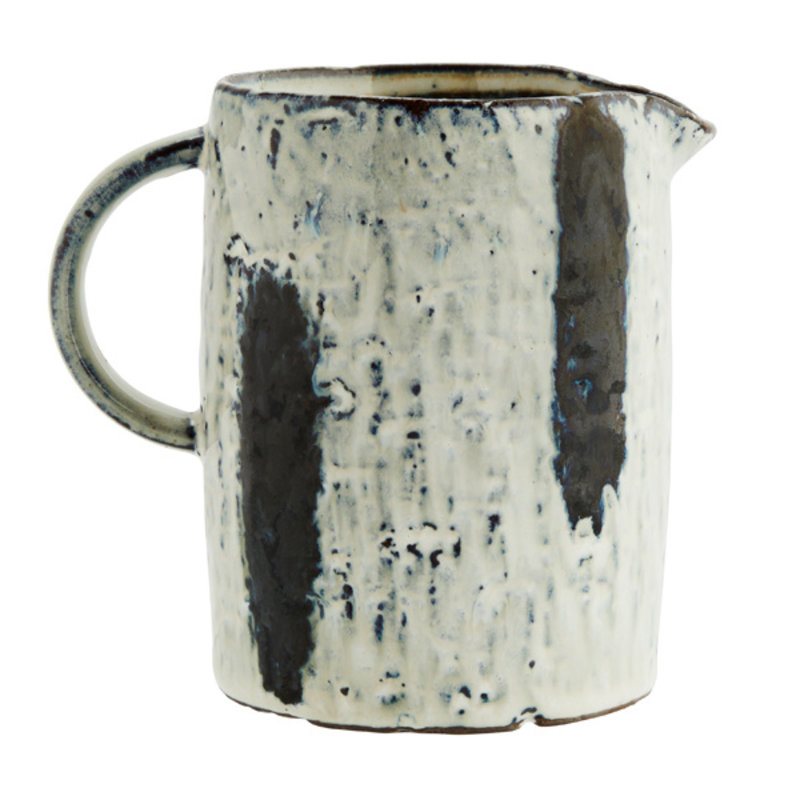 Madam Stoltz-collectie Stoneware jug w/ stripes