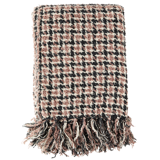 Madam Stoltz Checked wool throw