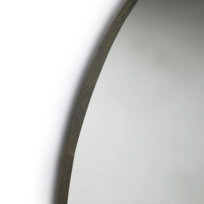 HK living-collectie round mirror metal frame 80cm