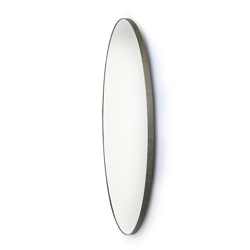 HK living-collectie round mirror metal frame 120cm
