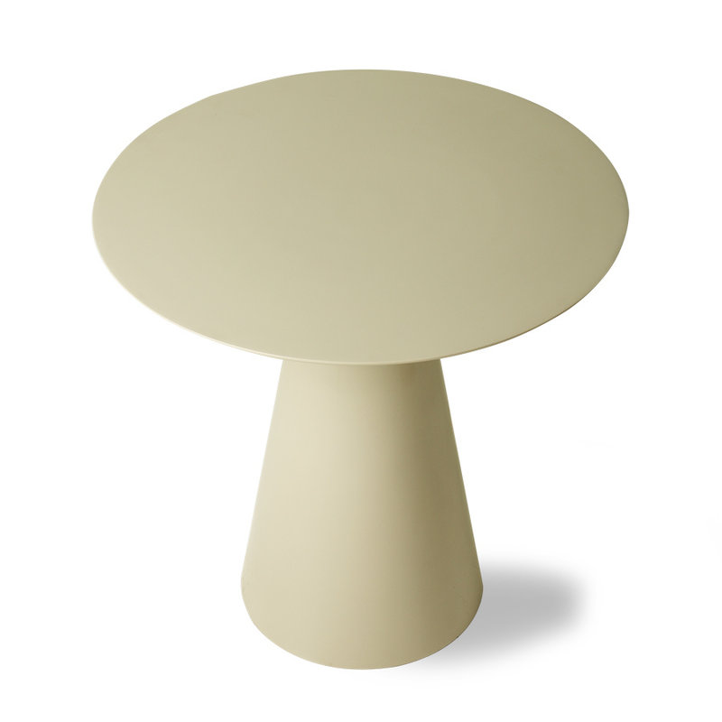 HKliving-collectie cream metal side table L