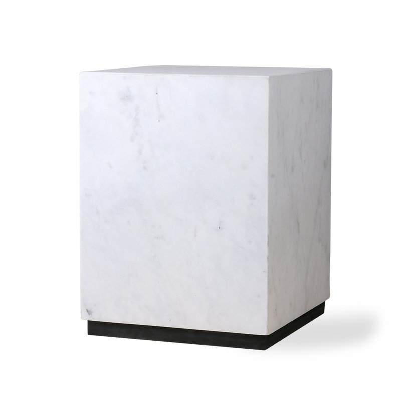 HKliving-collectie white marble block table M