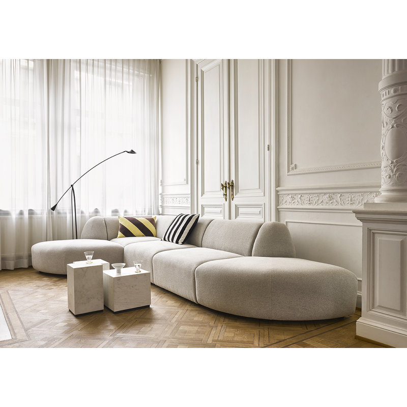 HK living-collectie white marble block table M