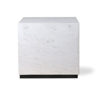 HKliving white marble block table L