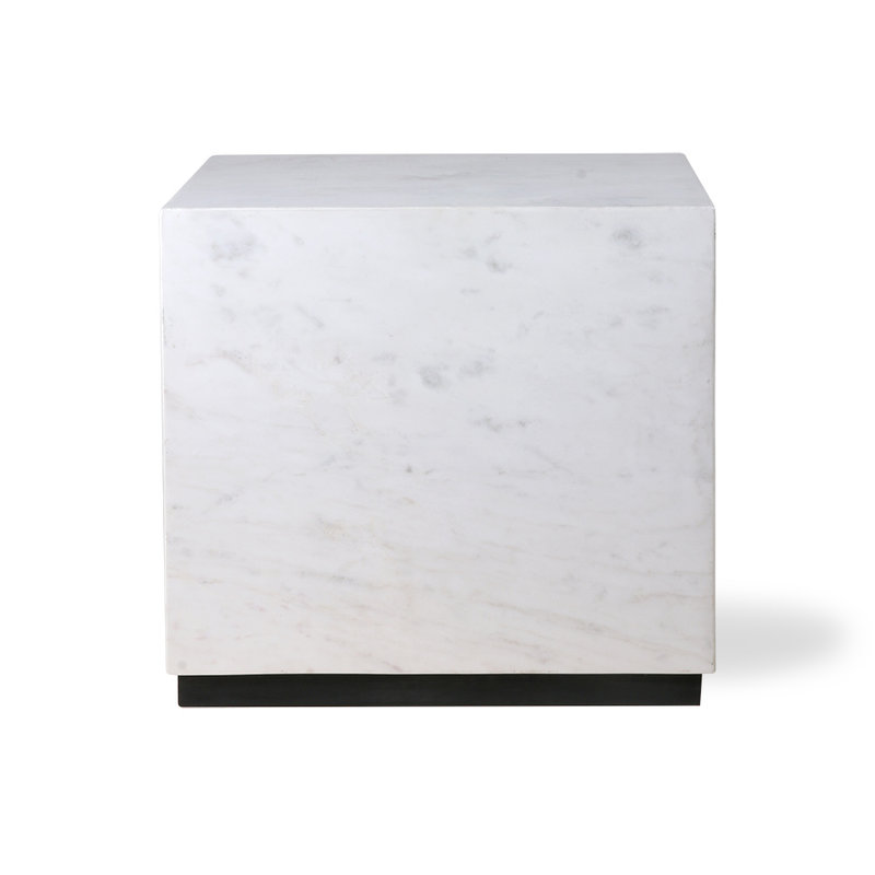 HKliving-collectie white marble block table L