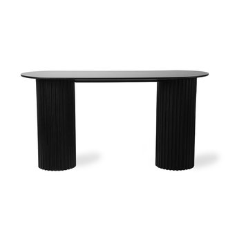 HK living Sidetable Pillar ovaal zwart