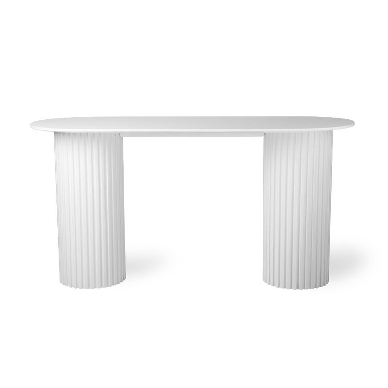 HK living-collectie Sidetable Pillar ovaal wit