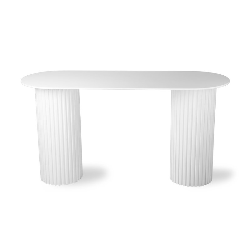 HKliving-collectie pillar side table oval white