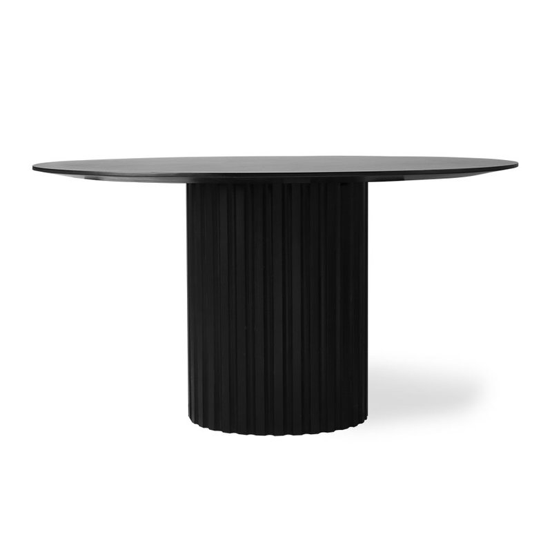 HKliving-collectie pillar dining table round black