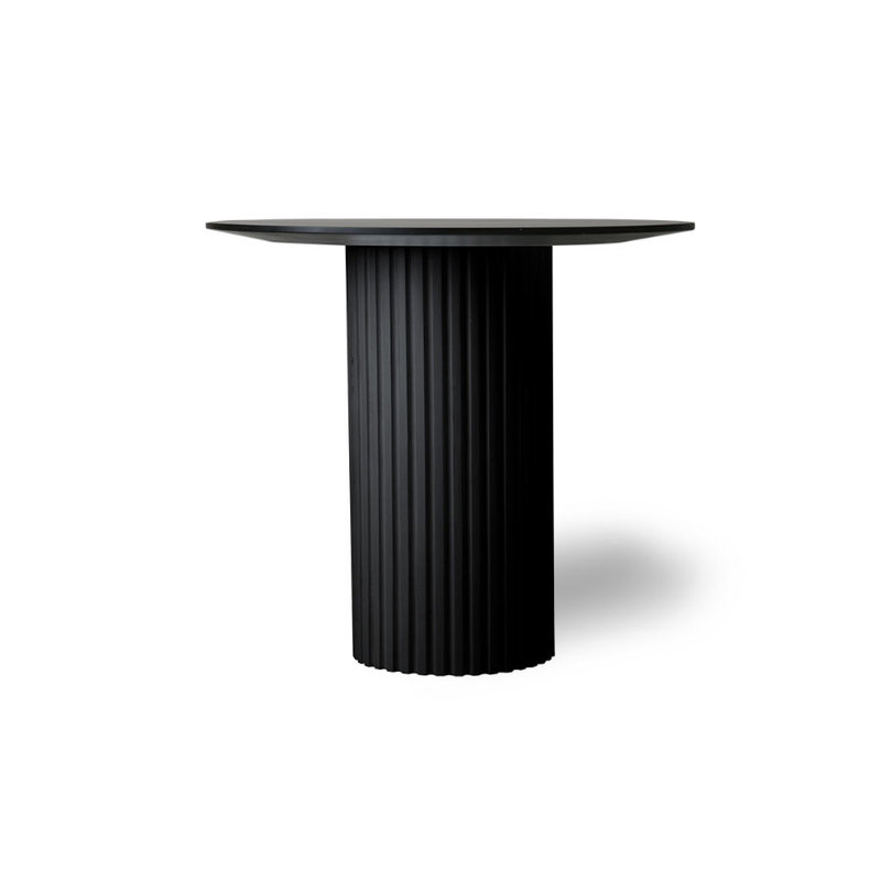 HKliving-collectie pillar side table round black