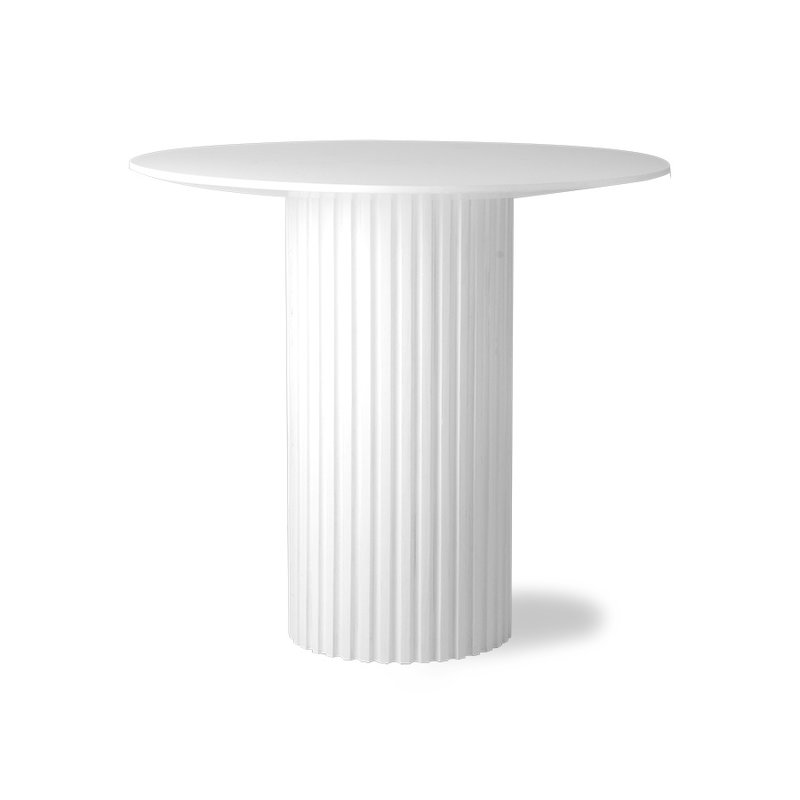 HKliving-collectie pillar side table round white