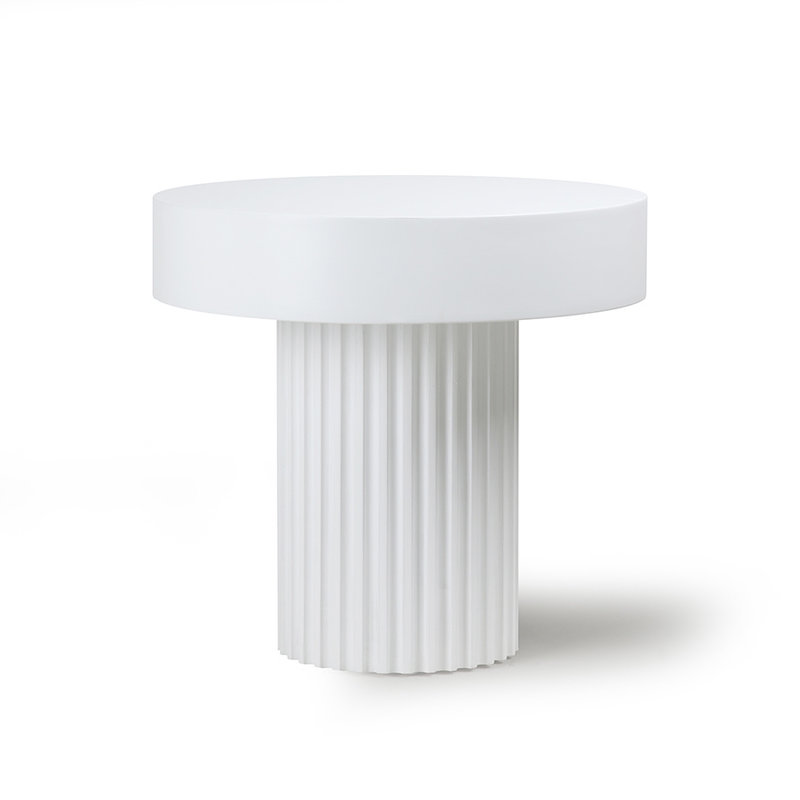 HKliving-collectie Salontafel Pillar rond wit