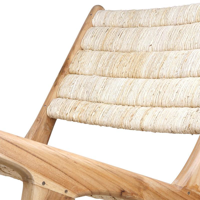 HKliving-collectie Loungestoel Abaca teak