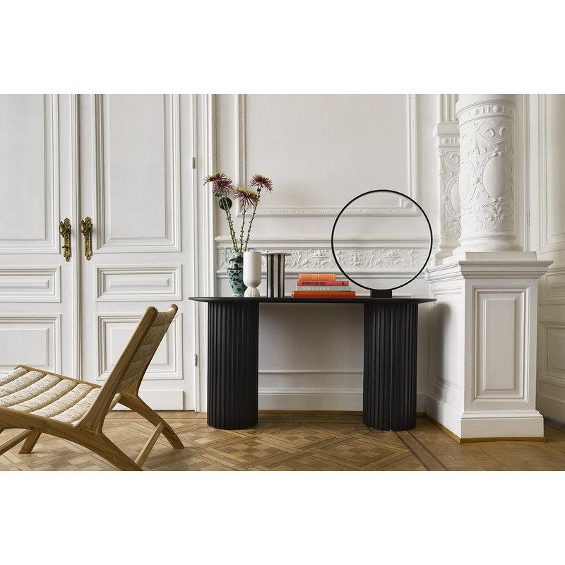 HK living-collectie abaca/teak lounge chair
