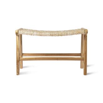 HKliving abaca/teak lounge ottoman
