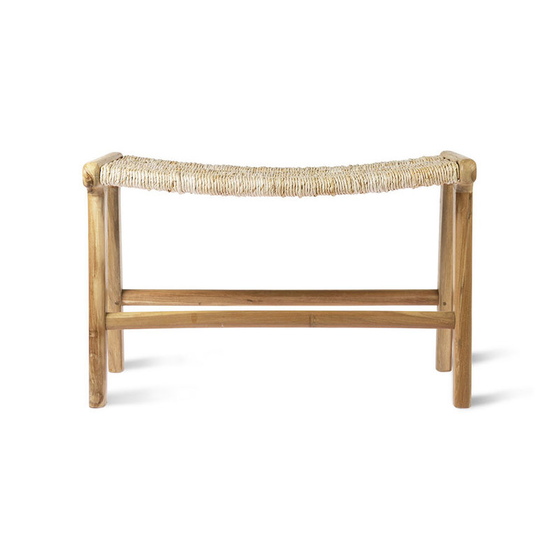 HKliving-collectie Ottoman Abaca teak