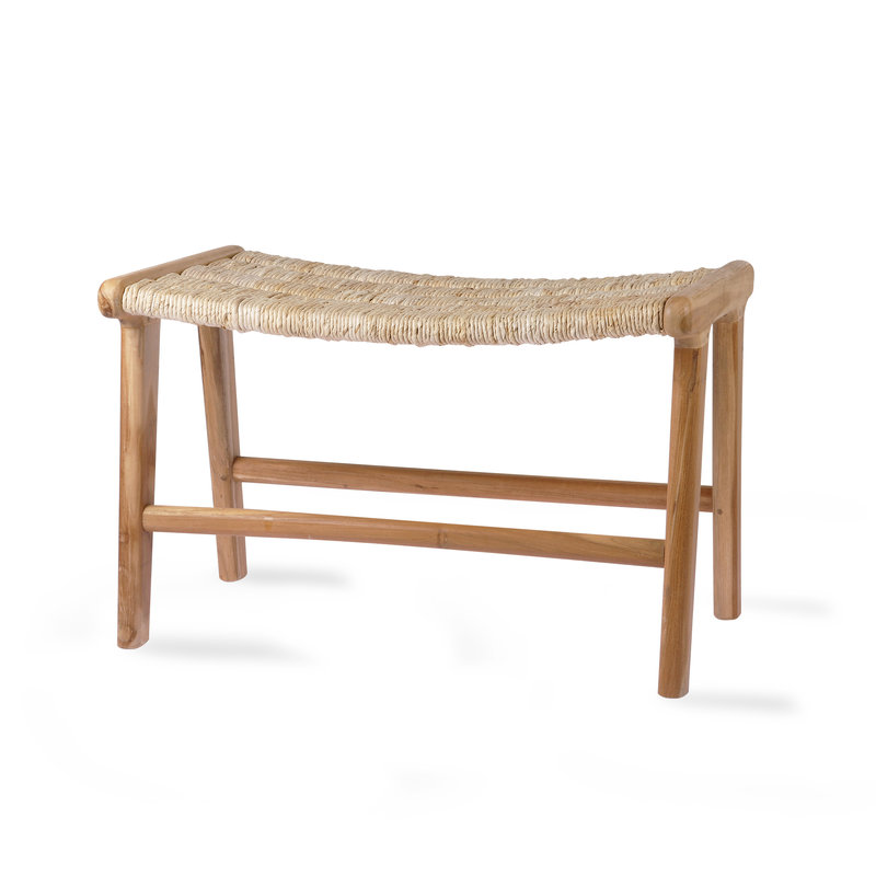 HKliving-collectie abaca/teak lounge ottoman