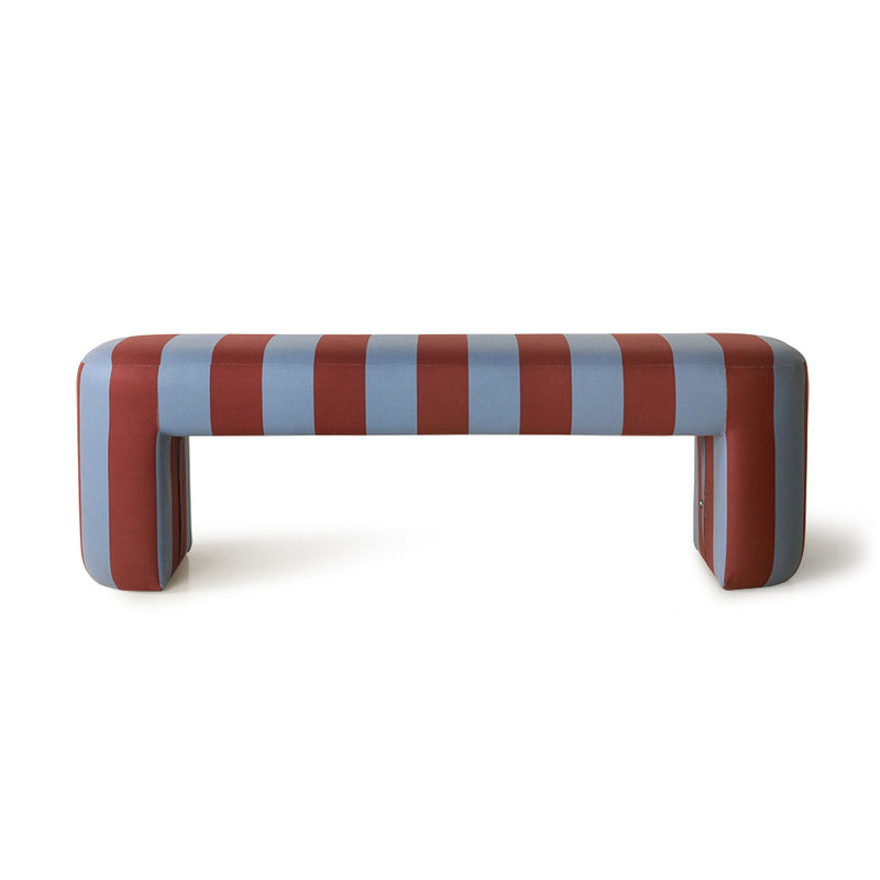 HK living-collectie Lobby bankje Striped blauw paars