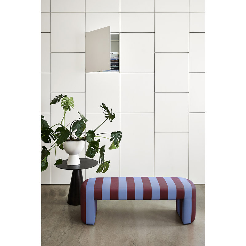 HK living-collectie lobby bench striped blue/purple