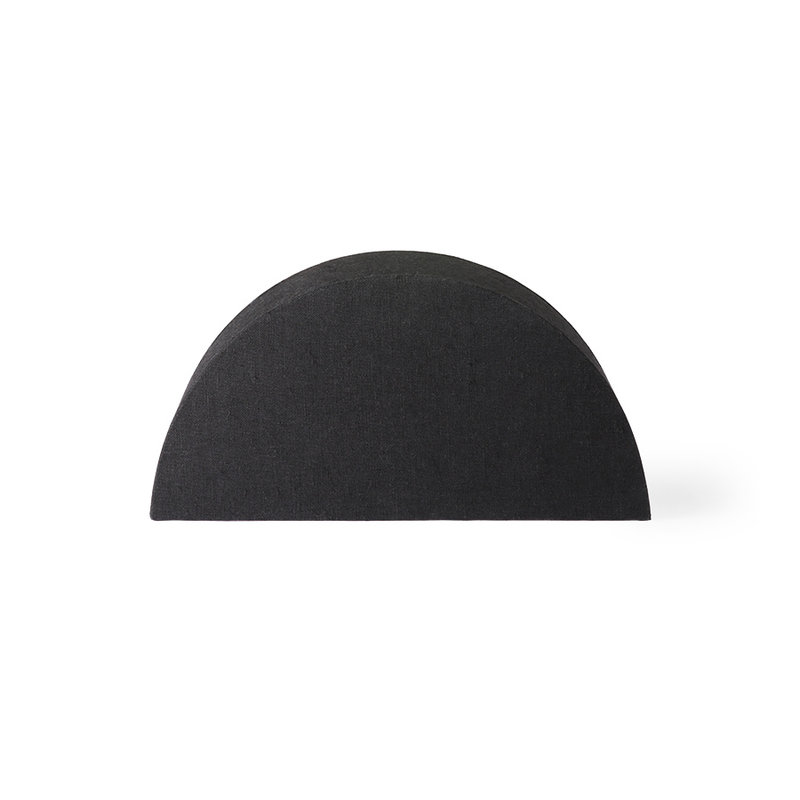HK living-collectie semicircle lampshade S black jute