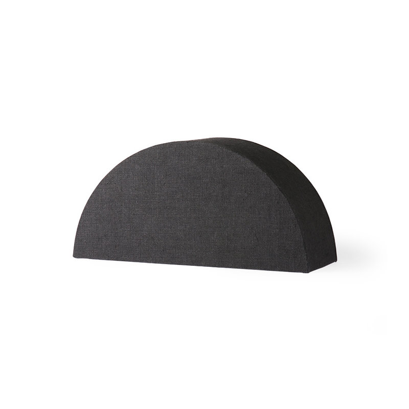 HKliving-collectie semicircle lampshade S black jute