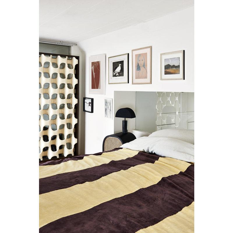 HKliving-collectie Lampenvoet Hexagon zwart marmer