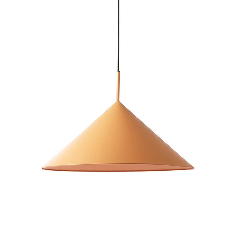 HK living-collectie metal triangle pendant lamp L matt peach