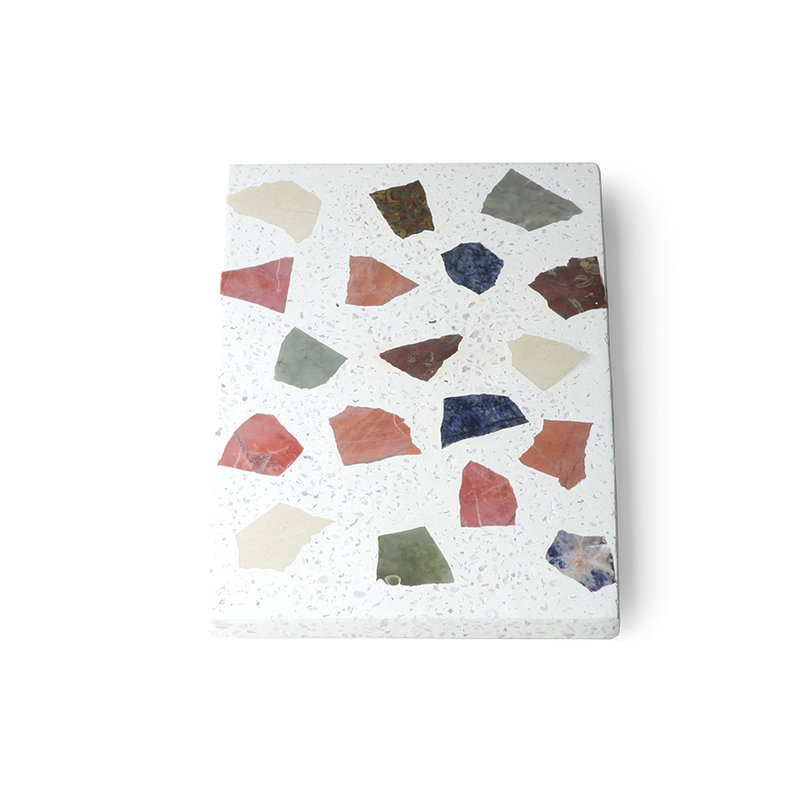 HKliving-collectie Serveerplateau  Marmer terrazzo