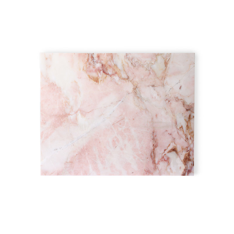 HKliving-collectie marble cutting board pink polished