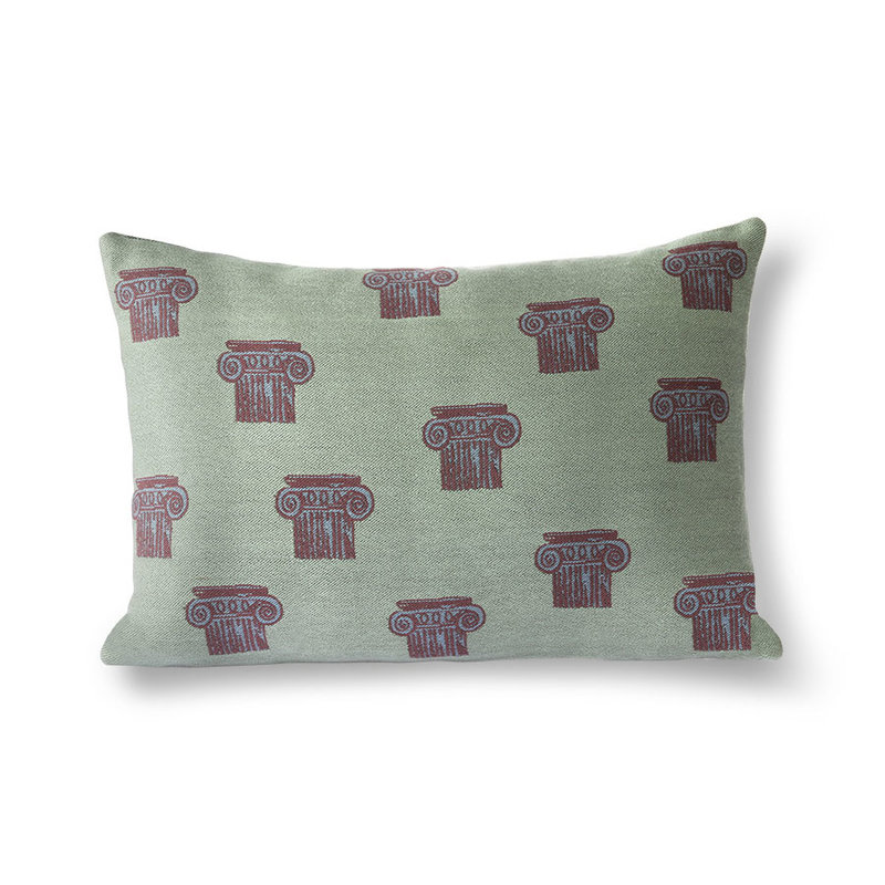 HKliving-collectie jacquard weave greek column cushion (35x50)