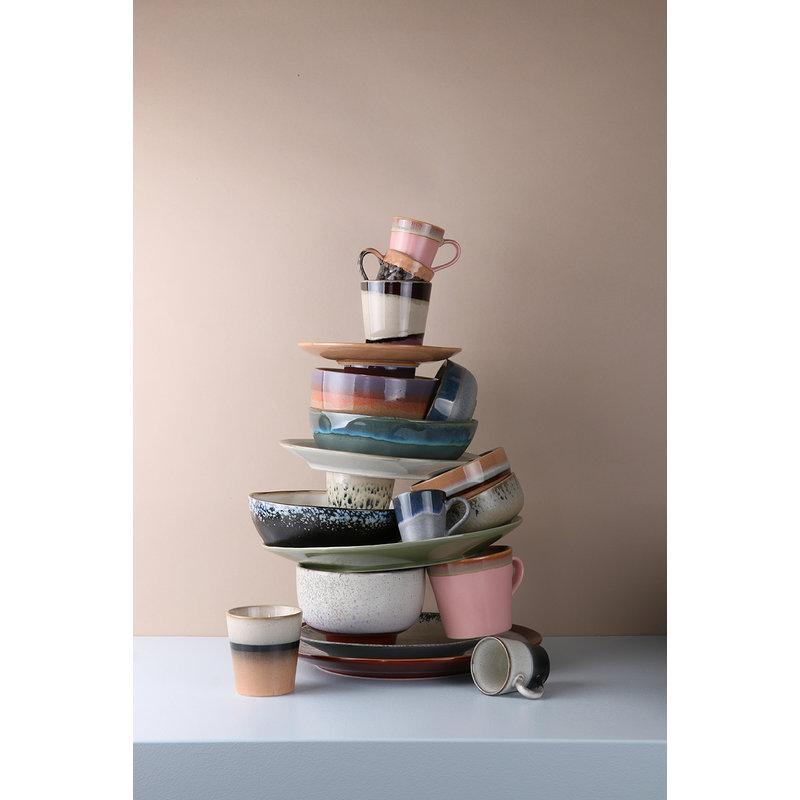 HK living-collectie Keramiek seventies espresso mokken - set van 4